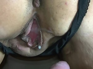 riding a cunt-dripping creampie rod
